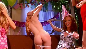 Wild lesbian threesome at near birthday be worthwhile for off colour Jayme Langford
