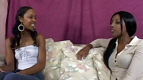Black lesbians toying continually other