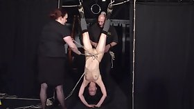 Restrained bondage babe Elise Graves of either sex gay damsel in crave and japan