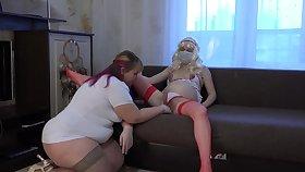 Lesbians bbw and her pregnant girlfriend