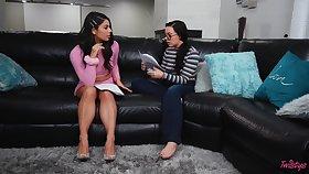 Jig and a slattern try lesbian sex - Gina Valentina & Whitney Wright