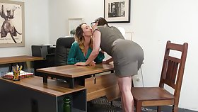 Two fucking hot lesbians Jade Nile plus Sovereign Syre are making love opportunities in sight