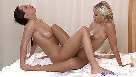 Handsome models have amazing lesbian sex - Eve Marbra & Lola MyLuv